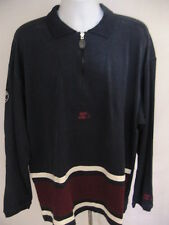 NEW Starter Navy Blue Pullover Sweater 1/4 Zip Size Large Silver Edition Zipper