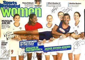 Brandi Chastain Foudy MacMillan Milbrett Sobrero signed 1999 SI for Women poster