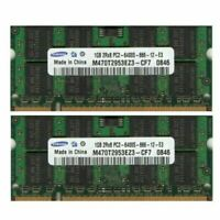 2GB 2x 1GB Kit Sony Vaio VGN DDR2 PC2-6400S 800MHz Laptop/Notebook RAM Memory