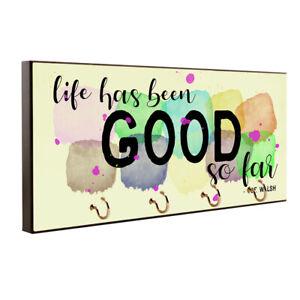 Life's Been Good So Far Joe Walsh Quote Key Hanger / Pet Leash Hanger