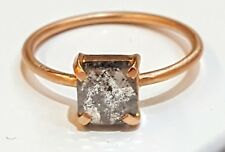 14k rose  gold Vintage rose cut OLD 1.02ct  Diamond   ring