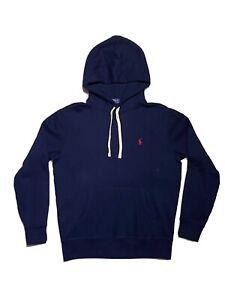 New Mens Polo Ralph Lauren Small Pony Fleece Hoodie, Navy Blue Small RRP £135