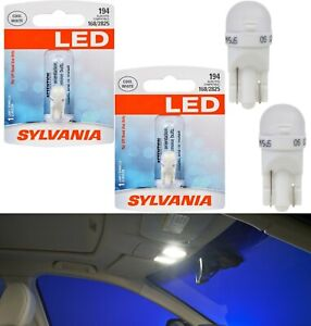 Sylvania Premium LED light 194 White Two Bulbs Interior Map Replace Upgrade Fit