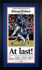 At Last! Framed Chicago Tribune - Cubs World Series Edition (Nov. 3) BRAND NEW