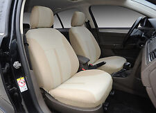 2 Car Seat Covers Semi-Custom Fabric Airbag Compatible to Kia 861 Tan