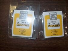 2 Packages Prinz-Scott Stamp Mounts Size 51/36 in BLACK Background