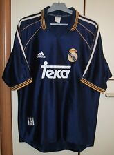 REAL MADRID SPAIN 1998/1999 AWAY FOOTBALL JERSEY SHIRT ADIDAS SIZE L