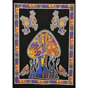 Frog Mushroom Psychedelic Table Cloth Poster Tapestry Ethnic Wall Hanging Decor