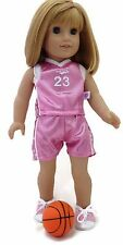 "Pink Shimmer 3 piece Basketball Set fits 18"" American Girl Doll Clothes"