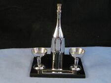 More details for art deco bar table desk striker lighter chrome enamel figural champagne bottle