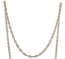 """9 ct red / rose gold rope (Prince of Wales) anklet, 9"""""""