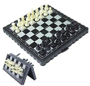 Pocket Size Magnetic Travel Chess | Mini Fordable Board Game Folding Camping