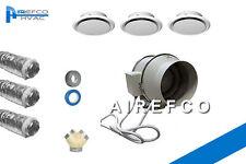 Two Room Heat Transfer  Fan150mm  Inline Fan Kit - 1 to 2  Room Air Transfer Kit