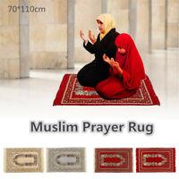 Turkish Islamic Muslim Janamaz Prayer Mat Rug Carpet Namaz Tapestry Praying