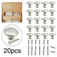 20X Stainless Steel Door Handle Brushed Nickel Drawer Pulls Kitchen Cabinet Knob
