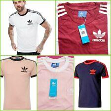 Para Hombre Adidas Originals Retro California Mangas Cortas Escote Redondo Camiseta