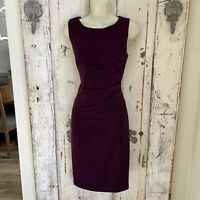 Calvin Klein Size 6 Woman's Purple Sleeveless Sheath Career Dress