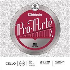 567958 D'addario Pro-arte - Muta di Corde per Violoncello 1/4 tensione Medium