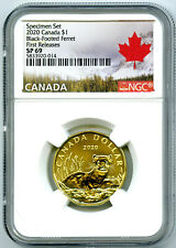 2020 CANADA $1 NGC SP69 FIRST RELEASES BLACK-FOOTED FERRET LOONIE RARE LOON