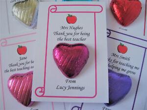 Teacher Thank You Chocolate - Teaching Assistant - Nursery - Head - End of Year