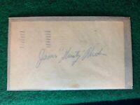 Dusty Rhodes Autographed 1952 Government Postcard GPC Index Card Guaranteed