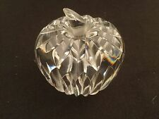 WATERFORD CRYSTAL CUT STEMMED APPLE PAPERWEIGHT FIGURE