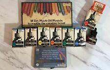 Lot Of 9 Faber-Castell Higgins Drawing Ink 1 Fluid oz, Oil Pastels, Artist Art