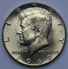 1969 D Kennedy Half Dollar In Choice BU Condition 40% Silver US Coin