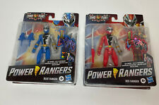 Power Rangers Dino Fury Blue & Red Ranger 6-Inch Action Figures New Sealed Lot 2