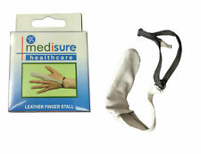 Medisure Soft Leather Finger Stall Large Non-Sweating Support adjustable Strap