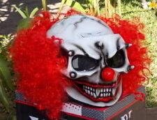 Custom Motorcycle Jet Helmet Killer Clown Red Hair Visor Shield DOT