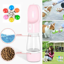 Portable 2 in 1 Pet Dog Water Bottle Cats Travel Puppy Drinking Bowl Outdoor