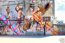 "59"" x 36"" canvas street art beach surfing Australia surf Print by andy baker COA"