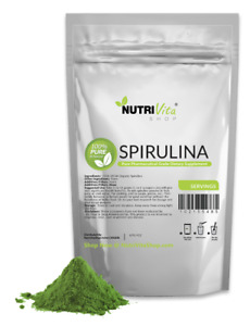 NVS 100% PURE SPIRULINA POWDER ALL NATURAL WEIGHT LOSS USP USA NONGMO ORGANIC