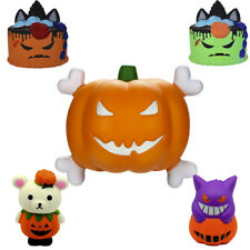 Cute Halloween Jumbo Pumpkin Relax Slow Rising Relax  Stress Reliever Toy Lot