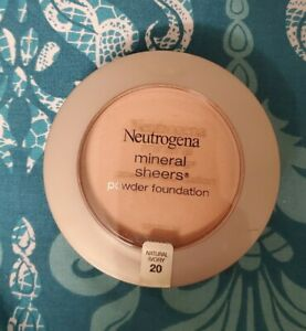 Neutrogena Mineral Sheers Powder Foundation, Natural Ivory 20, 0.34 Ounce SEALED