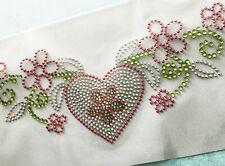 Heart Love Rhinestone Transfer Iron-On Valentine's Day Honeymoon Wedding Shower