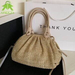 Fashion straw woven female handbag shoulder bag  beach straw woven bag messenger