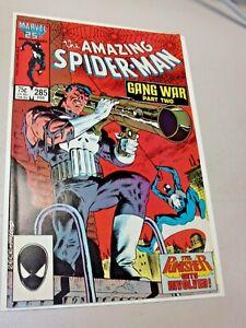 AMAZING SPIDER-MAN GANG WAR (1963 1ST SERIES) #285 FEB 1987 MARVEL COMIC NM