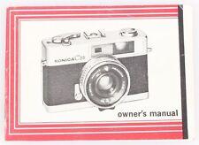 Konica C35 Owners Manual