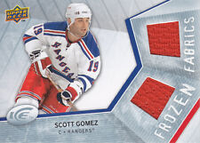 Scott Gomez 2008-09 Upper Deck Ice Frozen FABRICS #FFGZ
