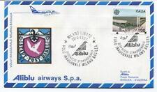 FFC 1987 Aliblu First Flight Milano Basilea Svizzera Inaugurale Dispaccio Italia