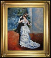 Framed, Quality Oil Painting Repro Renoir, Pierre-Auguste City Dance 20x24in