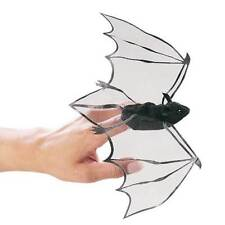 2 Black Bat Finger Puppets for Halloween, MPN 2612, 3 & Up, Boys & Girls
