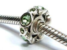 GENUINE CHAMILIA CHAM 925 SILVER GREEN COLOUR SPACER CHARM BEAD Bracelet