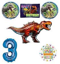 Jurassic World Dinosaur 3rd Birthday Party Supplies and Balloon Decorations