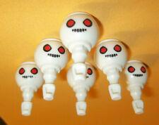 Playmobil,Scary Heads,Ghost,Zombie,Walkin g Dead,Lot Of 6Pcs