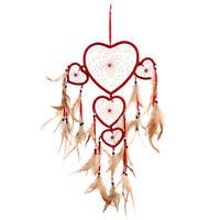 Attrape-rêves Coeur Rouge Plume Dream Catcher Pendentif Décoration