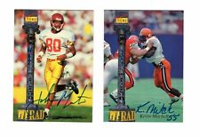 LOT OF TWO TETRAD FOOTBALL SIGNATURE ROOKIES AUTOGRAPH CARDS. MITCHELL & MORTON.