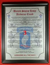 Mc-Nice: Army Airborne Creed 173rd Airborne Brigade Framed Personalized